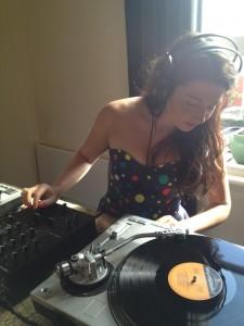 DJ-ing at amelia shaw